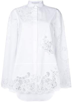 Ermanno Scervino lace panels shirt