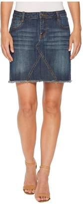 Stetson Denim Five-Pocket Skirt with Raw Edge Hem Women's Skirt