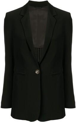 CK Calvin Klein one-button blazer