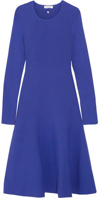 Mugler - Fluted Stretch-knit Dress - Bright blue $980 thestylecure.com
