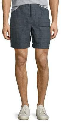 Billy Reid Everett Plaid Linen Shorts