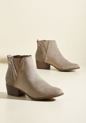 Madden Girl Portland by Morning Bootie in Taupe $69.99 thestylecure.com
