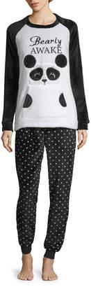 PEACE LOVE AND DREAMS Peace Love And Dreams Plush 2-pc. Pant Pajama Set With Kangaroo Pocket