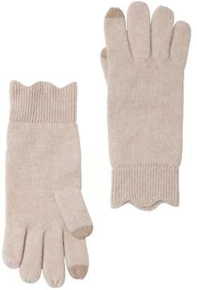 Amicale Cashmere Scalloped Knit Glove