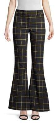 Smythe Check Mid-Rise Bootcut Pants