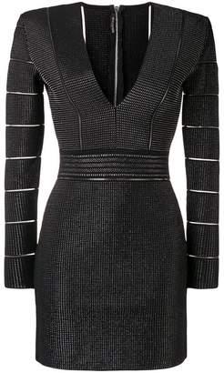 Balmain long sleeved fitted dress