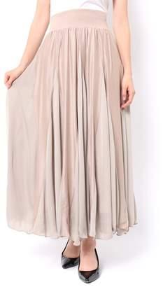 And Couture (アンド クチュール) - アンドクチュール サテン&マットサテンロングスカート