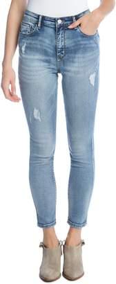 Karen Kane High Waist Ankle Skinny Jeans