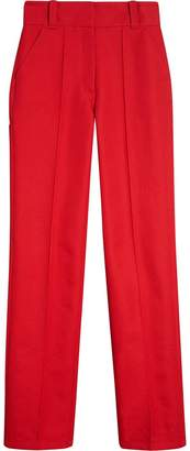 Burberry Cotton Drill High-waisted Trousers