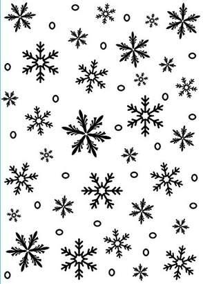 "Darice 1218-97 Embossing Folder Background 5""X7""-Snowflake"