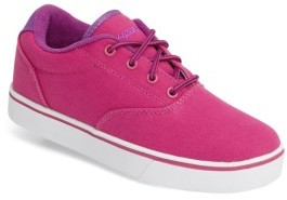 Girl's Heelys 'Launch' Canvas Sneaker $50 thestylecure.com