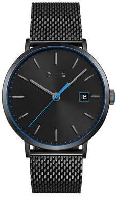Uri Minkoff Norrebro Black Tone Mesh Bracelet Watch, 40MM