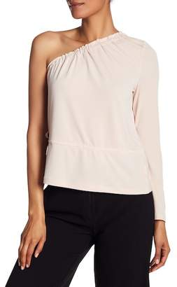 Rachel Roy One Shoulder Bell Sleeve Blouse