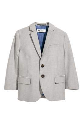 H&M Cotton Blazer - Light gray - Kids