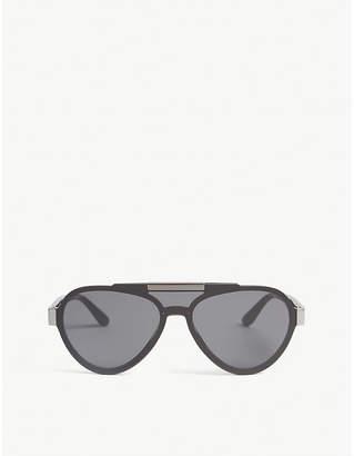 dd721f9795bb Prada Womens Black Pr01Us Pilot-Frame Sunglasses