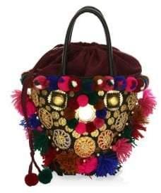 Figue Frida Mini Tuk Tuk Embellished Top Handle Bag