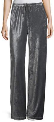 XCVI Josephine Velour Easy Pants, Plus Size