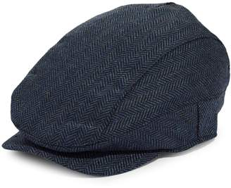 Black Brown 1826 Herringbone Wool-Blend Newsboy Cap