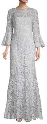 Three-Quarter Sleeve Lace Trumpet Gown