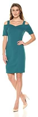 Lark & Ro Women's Short Cold Shoulder Dress with Bardot Neck Line