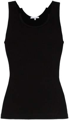 Helmut Lang fitted scoop neck ribbed tank top
