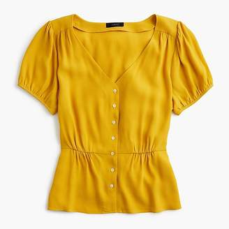 J.Crew Petite button-up peplum top