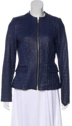 HUGO BOSS Boss by Leather Long Sleeve Jacket