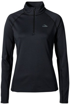L.L. Bean Women's L.L.Bean Midweight Base Layer, 1/4 Zip