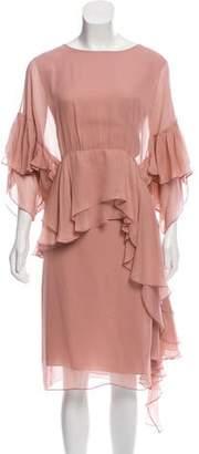 Rachel Comey Ruffled Midi Dress w/ Tags