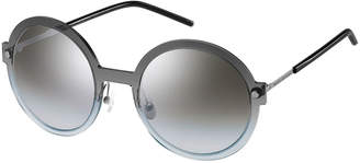 Marc Jacobs Round Mirrored Plastic/Metal Sunglasses