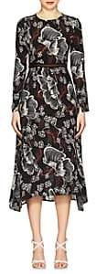 Warm Women's Poppy Floral Dress - Black