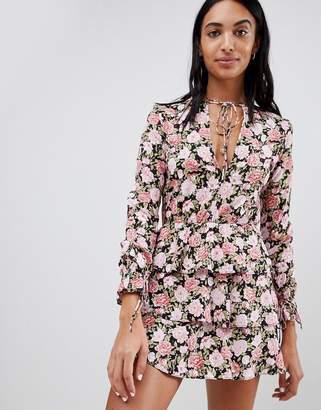 Motel Tea Dress In Romantic Floral