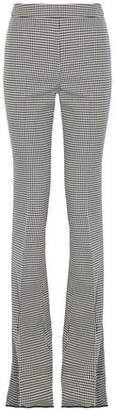 Giambattista Valli Houndstooth Wool Bootcut Pants