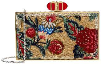 Judith Leiber Floral Rectangle Clutch