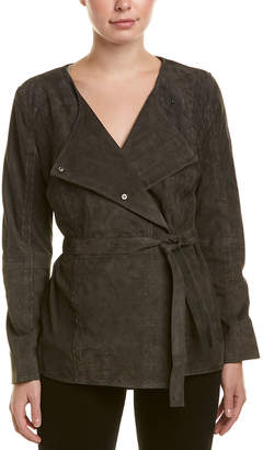 Diane von Furstenberg AS by As By Cadet Convertible Suede Jacket