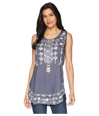 Scully Tally Embroidered Shirt Tail Tank