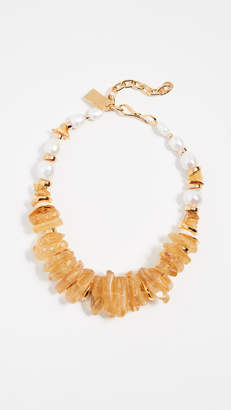 Lizzie Fortunato Bronze Collar Necklace