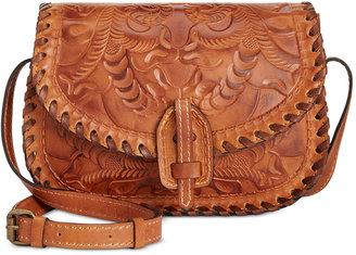 Patricia Nash Burnished Tooled Nardini Saddle Bag $199 thestylecure.com