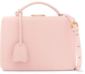 168790e336 Mark Cross Grace Small Textured-leather Shoulder Bag - Pastel pink