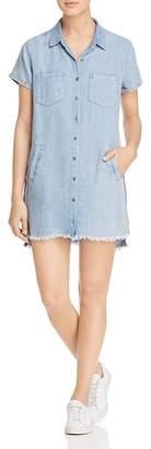 BILLY T Chambray Mini Shirt Dress
