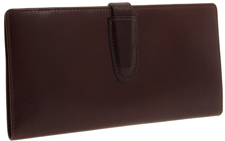 Mulholland Brothers - All Leather Passport Cover with Ticket Pouch (Stout Leather) - Bags and Luggage