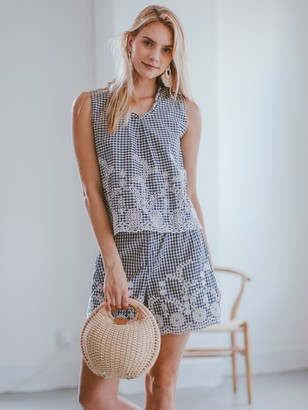 Goodnight Macaroon 'Norine' Lace Gingham Two Piece Set ( Sold Separately )
