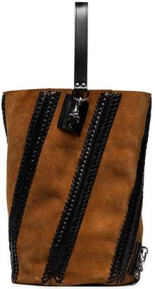 Proenza Schouler Brown Hex suede and leather bucket backpack