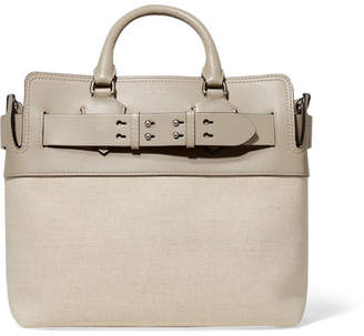 Burberry Canvas And Leather Tote - Mushroom