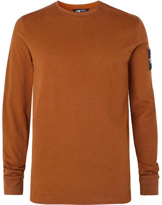 The North Face Fine 2 Logo-Appliqued Cotton-Jersey Base Layer - Men - Camel