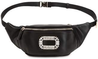 Roger Vivier Embellished Leather Belt Bag