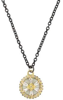 Armenta Sapphire, Diamond & Enamel Old World Pendant Necklace