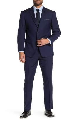 Perry Ellis Terry Blue Solid Two Button Notch Lapel Slim Fit Suit