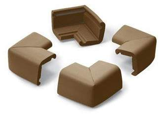 Prince Lionheart 14325 Table Corner 4 Pack in Chocolate