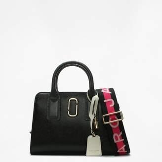 Marc Jacobs Big Shot Black Multi Leather Two Tone Tote Bag